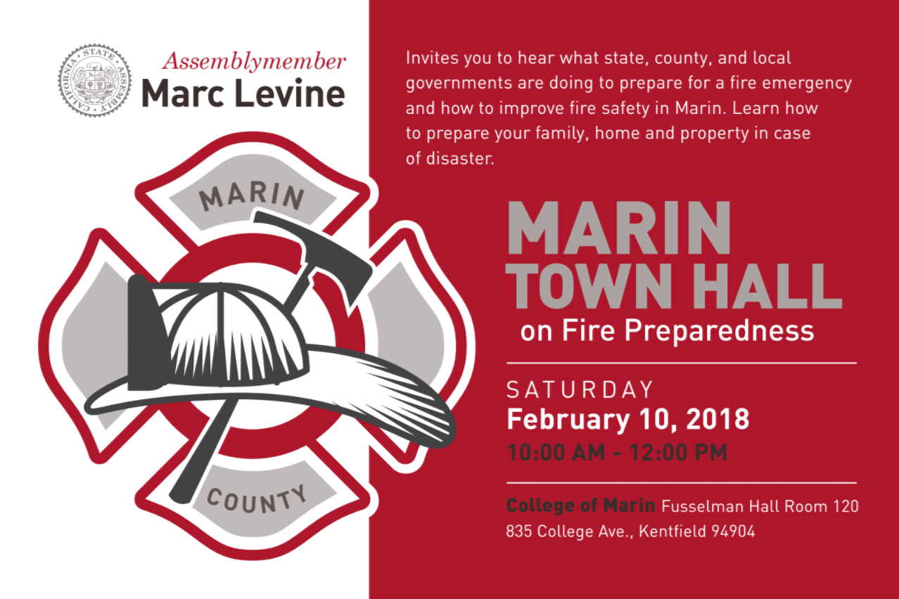 Marin town Hall on wildfire preparedness