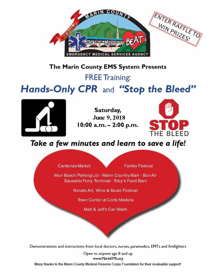 Sidewalk CPR and Stop the Bleed - June 9, 2018
