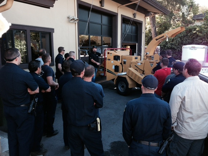 Ross Valley Fire Department and FIRESafe MARIN Partner on Chipper to Reduce Wildfire Hazard