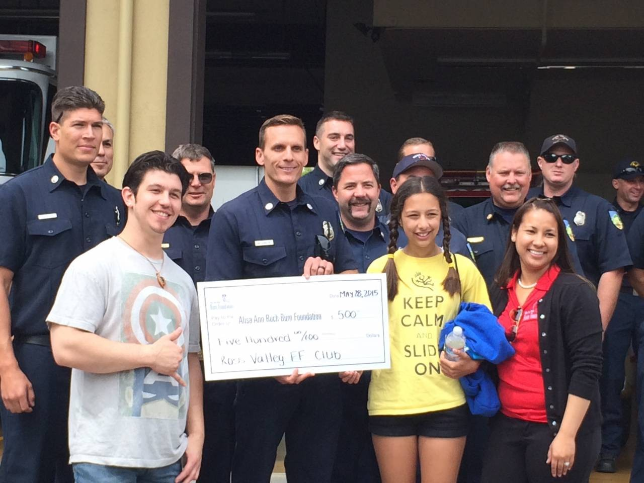 Ross Valley Firefighters Host Burn Foundation Benefit, Donate $500