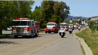 Fire Engine Relay to Benefit Burn Survivors Arrives In San Anselmo Thursday